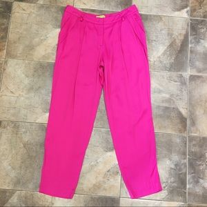 Pink Pleated Versace Jeans Couture Dress Pants 10